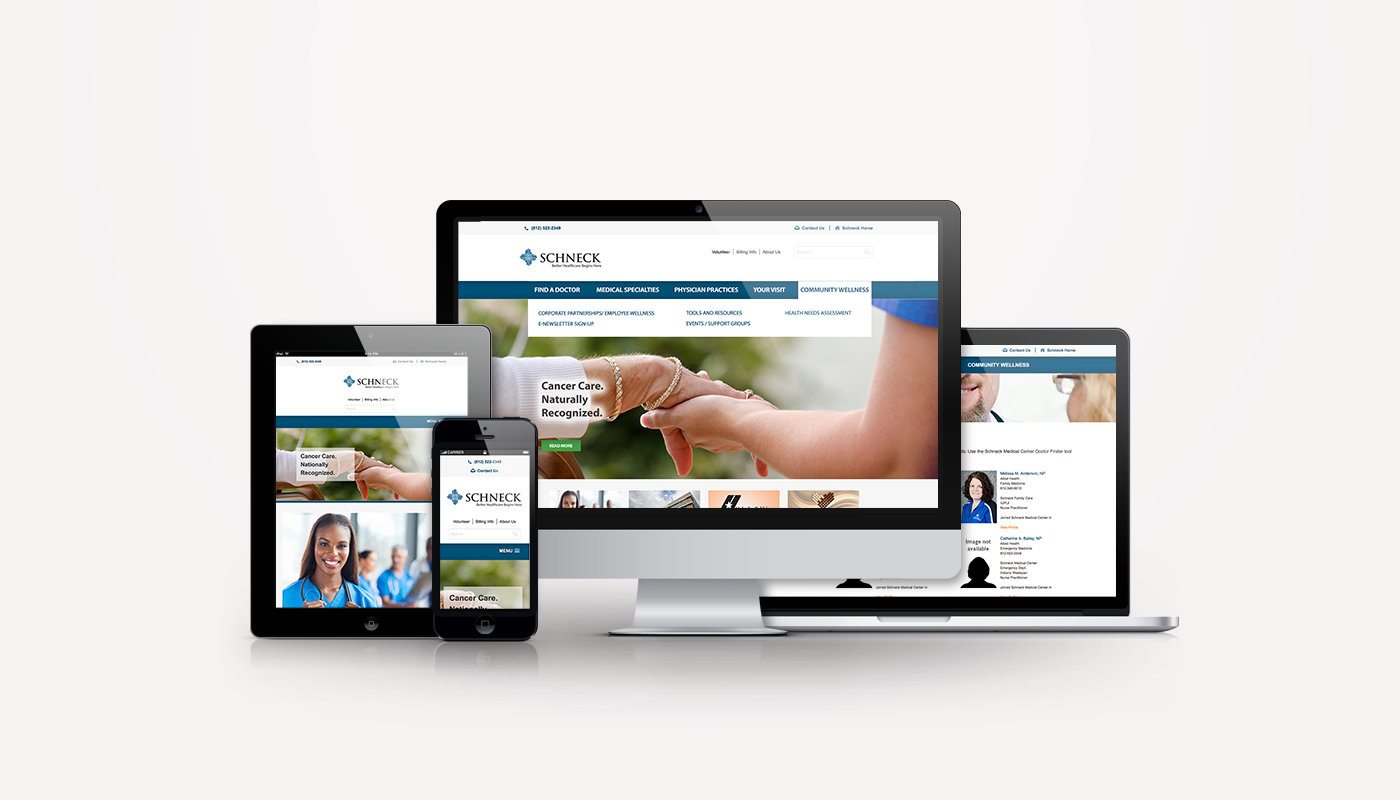 Schneck Medical Center Website Redesign